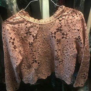 Tops - Blush pink lace top